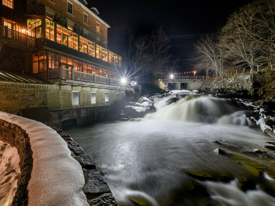 Wakefield - vue moulin nuit hiver